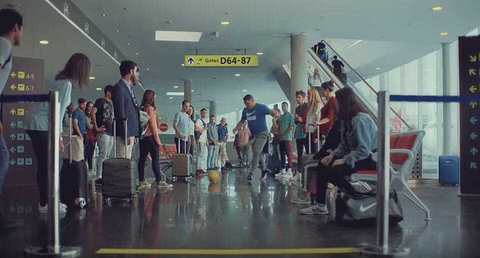 Nike Soccer Ad: Team Brazil Takes On An Airport